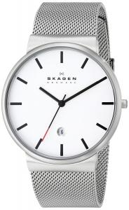 Đồng hồ Skagen Men's SKW6052 Ancher Quartz 3 Hand Date Stainless Steel Silver Watch