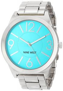 Đồng hồ Nine West Women's NW/1585TLSB Turquoise Dial Silver-Tone Bracelet Watch