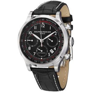 Đồng hồ Baume & Mercier Capeland Men's Black Leather Strap Automatic Chronograph Watch 10084