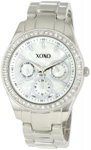 Đồng hồ XOXO Women's XO5301A Rhinestone-Accented Silver-Tone Bracelet Watch