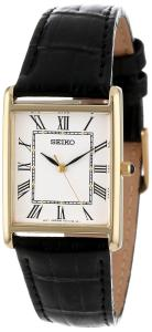 Đồng hồ Seiko Men's SNF672 Dress Watch with Leather Band