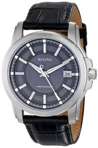 Đồng hồ Bulova Men's 96B158 Precisionist Leather Strap Watch