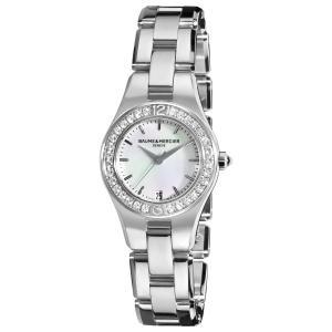 Đồng hồ Baume & Mercier Women's 10013 Linea Mother-of-Pearl Dial Diamond Bezel Watch