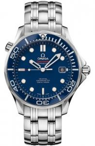 Đồng hồ Omega Men's O21230412003001 Seamaster Analog Display Automatic Self Wind Silver Watch