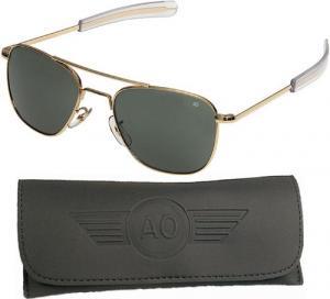 Kính mắt American Optical Pilot Aviator Sunglasses 55 mm Gold