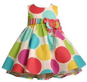 Váy Bonnie Baby Large Dots Birthday Dress with Headband