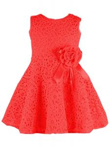 Váy Kids Toddlers Girls Princess Party Flower Solid Lace Formal Dress