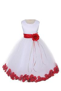 Váy 21 Colors Satin Bodice Communion Flower Girl Pageant Petal Dress: Infant-14