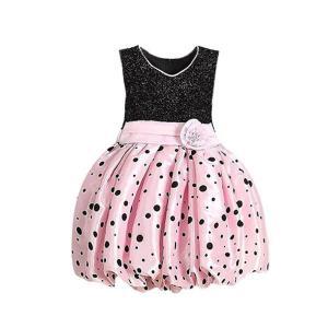 Váy Weixinbuy Kids Girls Flower Bubble Princess Polka Dot Sleeveless Dress