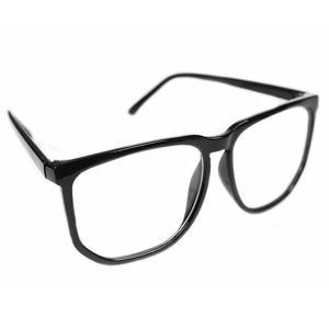 Kính mắt Unisex Men Women Fashion Oversized Retro Tortoise Shell Clear Lens Plain Glasses