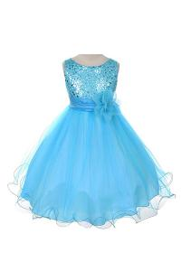 Váy Sequin Bodice Special Occasion Dress Infant Toddler Flower Girl (or Bolero)