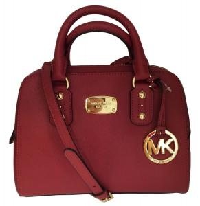 Túi xách Michael Kors Small Satchel Scarlet Red Saffiano Leather