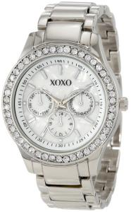 Đồng hồ XOXO Women's XO5331  Silver-tone Bracelet With Rhinestones Accent Watch