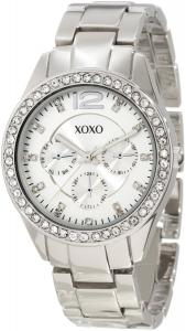 Đồng hồ XOXO Women's XO5476 Silver-Tone Bracelet With Rhinestones Accent Bezel Watch