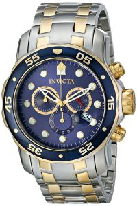 Đồng hồ Invicta Men's 0077 Pro Diver Chronograph Blue Dial Watch