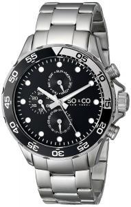 Đồng hồ SO&CO New York Men's 5014.1 Yacht Club Analog Display Analog Quartz Silver Watch