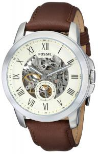 Đồng hồ Fossil Men's ME3052 Grant Analog Display Automatic Self Wind Brown Watch