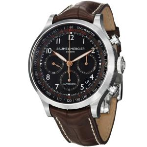 Đồng hồ Baume & Mercier Capeland Men's Brown Leather Strap Automatic Chronograph Watch 10067