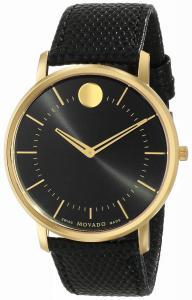 Đồng hồ Movado Men's 0606847 Movado TC Analog Display Swiss Quartz Black Watch