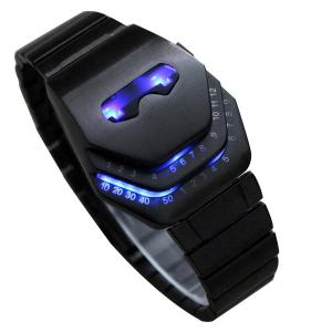 Đồng hồ Soleasy Men's Peculiar COOL Gadgets interesting amazing Snake Head Design Blue LED Watches WTH8021