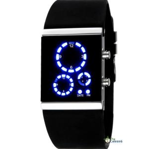 Đồng hồ Mirror 3 Dials Digital LED Sport Cool Silicone Wrist Watch