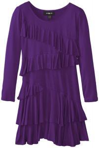 Váy trẻ em Amy Byer Big Girls' Long-Sleeve Ruffle-Front Dress