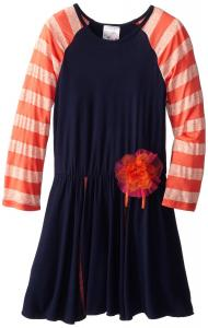 Váy trẻ em Elisabeth Big Girls' Striped Sleeve Dress