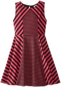 Váy trẻ em Rare Editions Big Girls' Knit Dress with Mixed Stripes