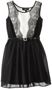 Váy trẻ em Amy Byer Big Girls' Lace-Trimmed Dress