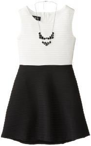 Váy trẻ em Amy Byer Big Girls' Textured Knit Dress with Necklace