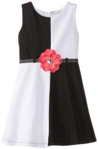 Váy trẻ em Youngland Little Girls' Colorblock Ponte Dress