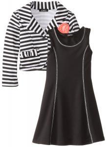 Váy trẻ em ZUNIE Little Girls' Fit-and-Flare Dress with Blazer Jacket