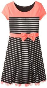 Váy trẻ em ZUNIE Big Girls' Striped Ponte Dress