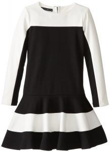 Váy trẻ em Biscotti Big Girls' Drop-Waist Color-Block Dress