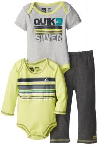 Quần áo trẻ em Quiksilver Baby-Boys Infant Lime Long Sleeve Body Suit