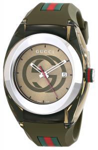 Đồng hồ Gucci SYNC XXL YA137106 Khaki Green Swiss Quartz Watch