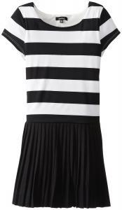 Váy trẻ em ZUNIE Big Girls' Rugby Striped Dress with Pleated Skirt