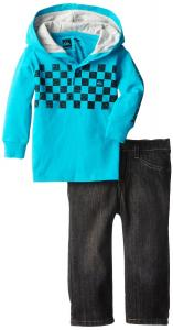 Quần áo trẻ em Quiksilver Baby-Boys Infant Blue Hoody with Jeans