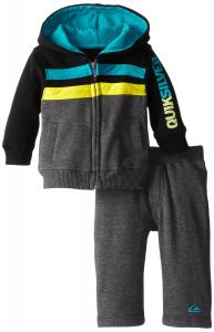 Quần áo trẻ em Quiksilver Baby-Boys Newborn Navy Hoody with Pull On Pants