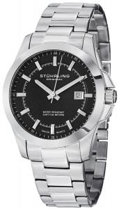 Đồng hồ Stuhrling Original Men's 236.02 Ascot Triton Swiss Quartz Date Black Dial Watch