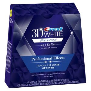 Miếng dán làm trắng răng Crest 3D White Whitestrips Professional Effects - Teeth Whitening Kit 20 Treatments (Packaging May Vary)