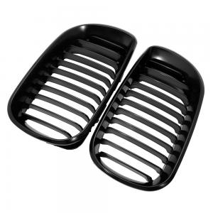 Euro Style Matte Black Front Upper Kidney Grille Grill LH& RH For BMW E46 3 Series 320 325 330 4 Door 2002-2005 02-05