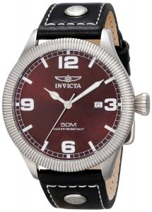 Đồng hồ Invicta Men's 1461 Vintage Collection Riveted Leather Strap Brown Dial Watch
