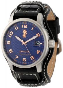 Đồng hồ Invicta Men's 12972 I-Force Blue Textured Dial Black Leather Watch