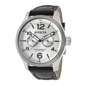 Đồng hồ Invicta Men's 13009 I-Force Silver Textured Dial Black Leather Watch