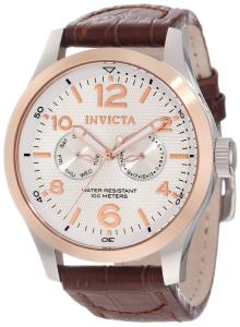 Đồng hồ Invicta Men's 13010 I-Force Silver Textured Dial Brown Leather Watch