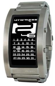Đồng hồ Phosphor Unisex DC03 Digital Calendar E-INK Curved Metal Band Watch