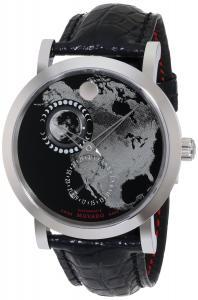 Đồng hồ Movado Men's 0606566 Red Label Planisphere w/ Black Alligator Leather Strap Watch