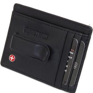 Ví nam Alpine Swiss Men's Leather Money Clip Front Pocket Wallet