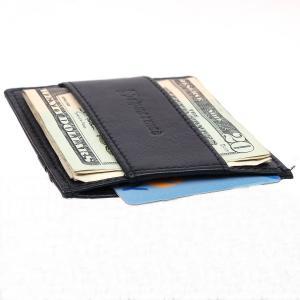 Ví nam Alpine Swiss Money Clip Genuine Leather Super Thin Slim Cash Strap Wallet